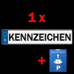 1x kfz kennzeichen und parkuhr
