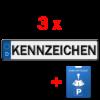 3x kfz kennzeichen und parkuhr